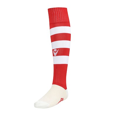 Macron Hoops Sock - Red/White (Pack of 5)