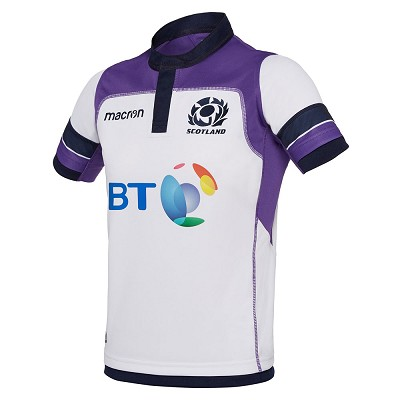 2018 Scotland Rugby Away Poly Replica Shirt SS JR