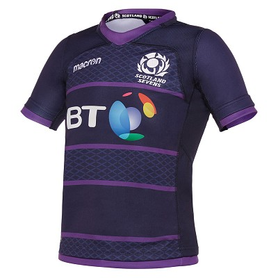 2018 Scotland Rugby 7's Home Replica Shirt SS JR