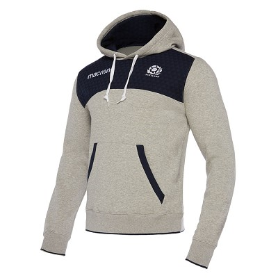 2018 Scotland Rugby Heavy Cotton Hoody Gry/Nav SR
