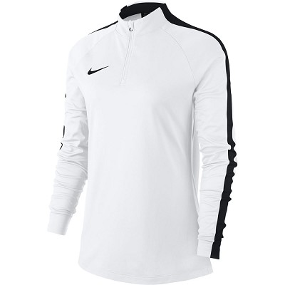 Nike Women's Academy 18 Drill Top - White/Black/(Black)